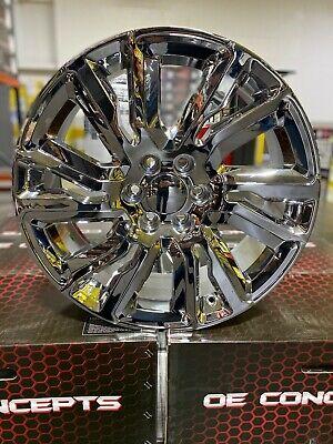"4 New 2019 GMC Sierra Wheels 22x9 Chrome OE 22"" Silverado Denali Yukon Tahoe"