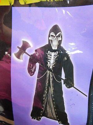 Crypt Master Boy's Skeleton Reaper Halloween Costume Child XL X-Large #5613 ()
