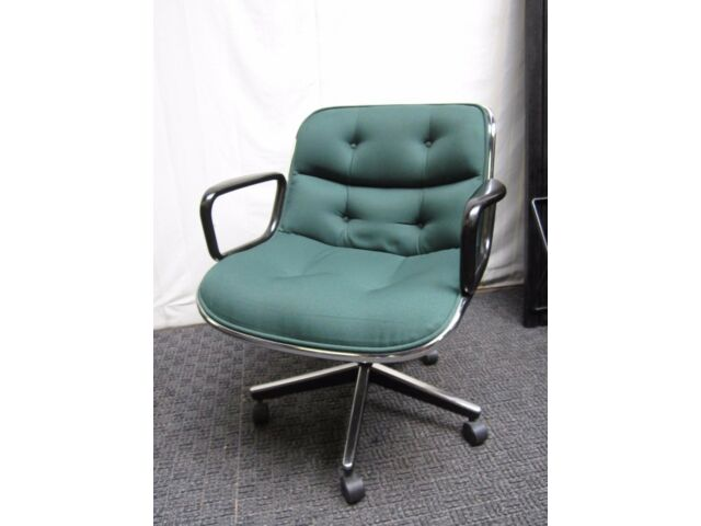50 Mid Century Charles Pollock office chair authentic knoll