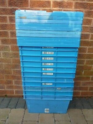 Storage Boxes Containers Crates Totes/ Lids/ Stackable - HEAVY DUTY MADE TO LAST