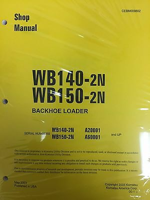 Komatsu Wb140-2n Wb150-2n Backhoe Service Shop Manual