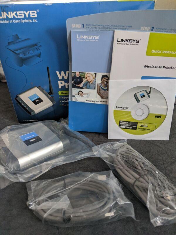 Wireless G Linksys Print Server Model WPSM54G
