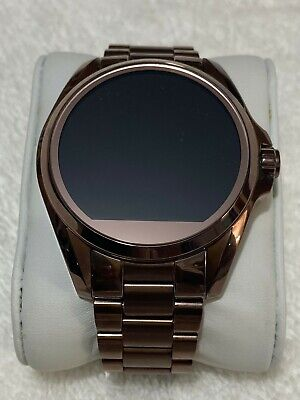 Michael Kors Smart Watch for Men with Stainless Steel strap (dark rose gold)