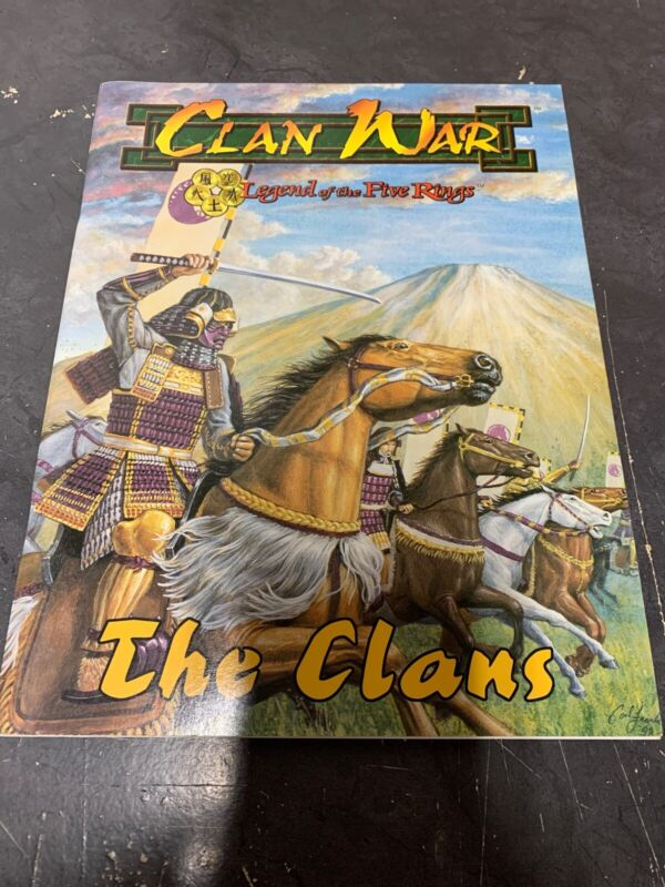 Clan War Legend of the Five Rings The Clans Book AEG Rare