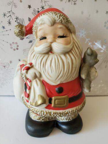 Vintage HOMCO Ceramic Christmas Santa Claus Bank #5610 - CUTE!