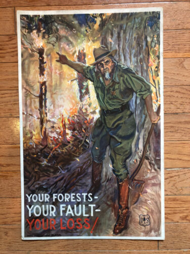 1934 James Montgomery Flagg Dept. of Agriculture Forest Service Uncle Sam Poster