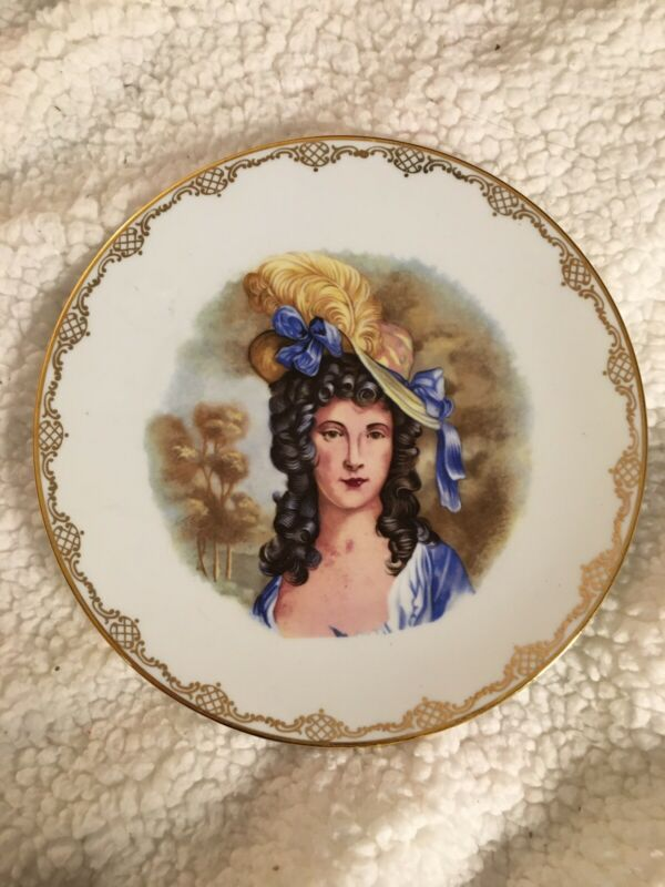 Vintage China Plate - Made In Western Germany - Victorian Woman