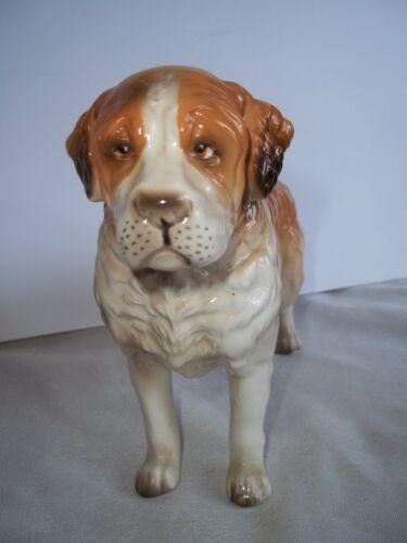 Vintage TSC 168 Ceramic Saint Bernard Dog Figurine