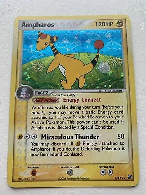 Ampharos 1/115 Holo EX Unseen Forces NM/M Mint Pokemon Card