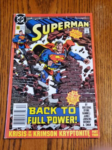 """1990, Superman Comic Book, #50, """"Back to Full Power"""", DC."""