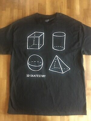 new style 3aa22 84ab3 3D SKATEBOARDS Parra Shapes T-shirt Black XL Brian Anderson Supreme  Deadstock