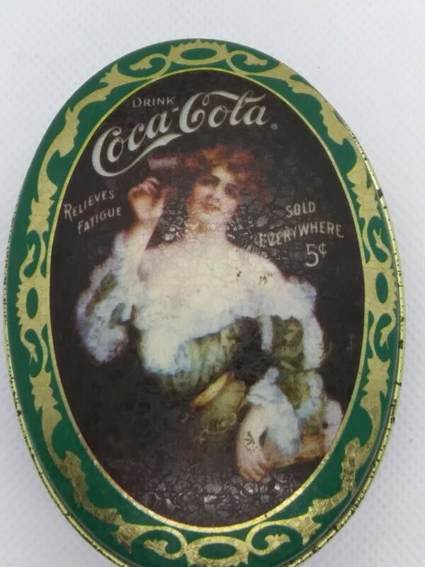 1995 Coca-Cola ScenTins Vanilla Scented Candle Metal Tin Unused Green