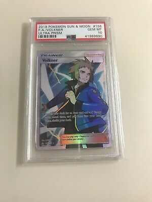 POKEMON VOLKNER 156/156 PSA 10 - FULL ART ULTRA PRISM