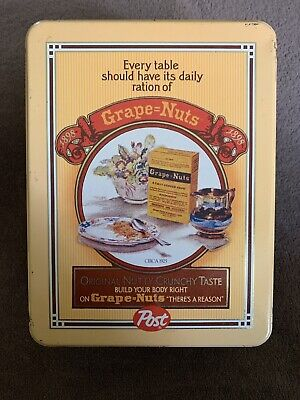 Vintage Post Grape Nuts Collectible Metal Tin Retro Antique Look