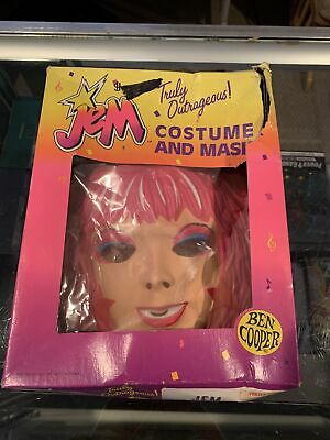 Vintage JEM Ben Cooper 1985 Halloween Costume And Mask Set Size 8-10. RARE!