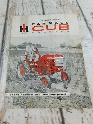 Vintage Original Mc Cormick Farmall Cub Tractor Advertisement Brochure Cr1076l