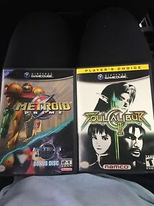 Metroid Prime with echos bonus disc and souls calibur