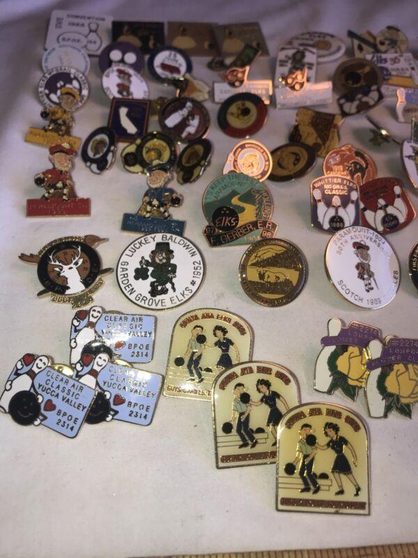 BPOE 1 Lot (93) Elks California Bowling Adventure Pins .