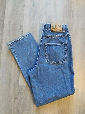 Vintage 1990s B.U.M. Equipment Jeans Bum High Waisted Womens Pants Size 11 1990s Womens Pants
