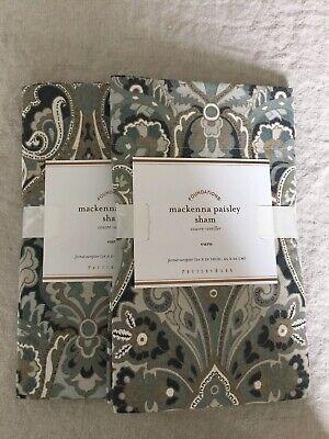 Set/2 Pottery Barn Mackenna Paisley Euro Shams Beautiful!!