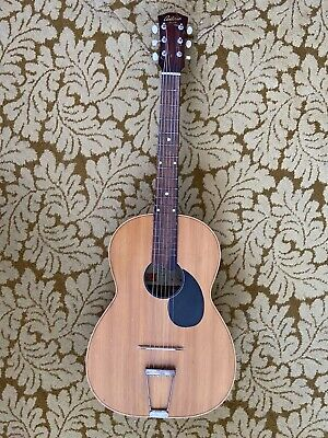 """Antoria Foreign"" Vintage Acoustic Guitar With Case 50s 60s"