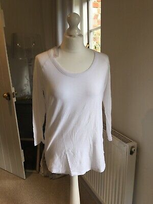 James Perse 3/4 Sleeve T-shirt Size 3 White BNWOT