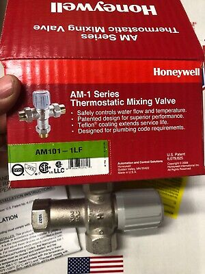 HONEYWELL AM101-1LF AQUAMIX LEAD FREE THERMOSTATIC MIXING VALVE 3/4