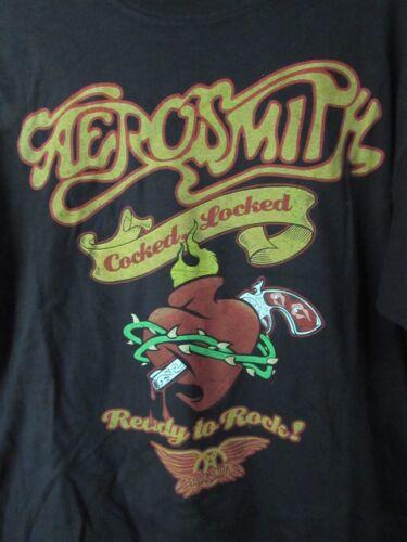 Aerosmith Concert Shirt-Cocked & Locked-Anvil-Size Large-Tattoo Style