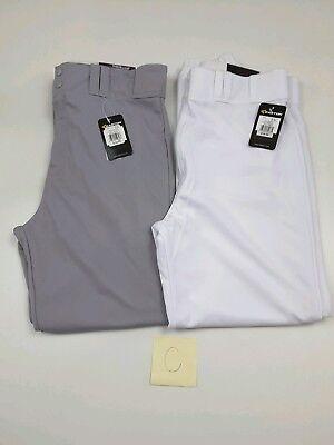 - Easton Deluxe Men's Baseball Pants Elastic Bottom Gray Or White XL (C)
