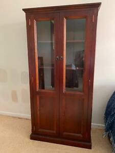 Wood & Glass Display Cabinet