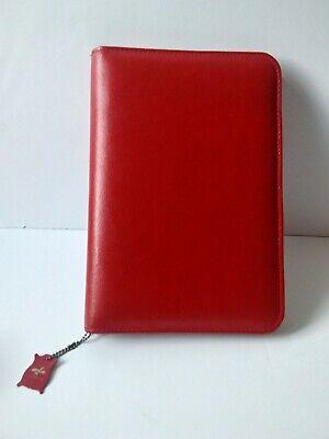 Vintage Red Leather Folder Organizer Case Binder Planner National Canada