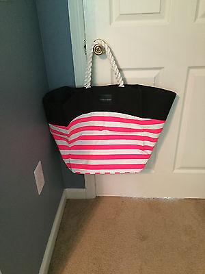 Victoria's Secret large striped tote bag New