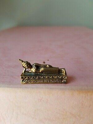 Reclining Buddha ~ 2.8cm Long... Brass mini statue