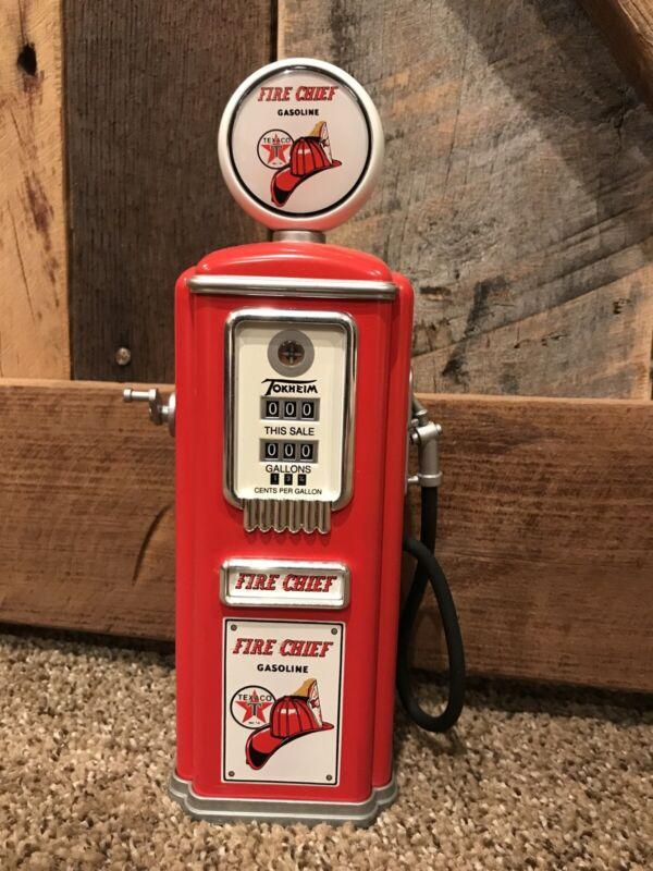Limited edition Gearbox 1950 Tokheim Fire Chief Gas Pump Replica Coin Bank
