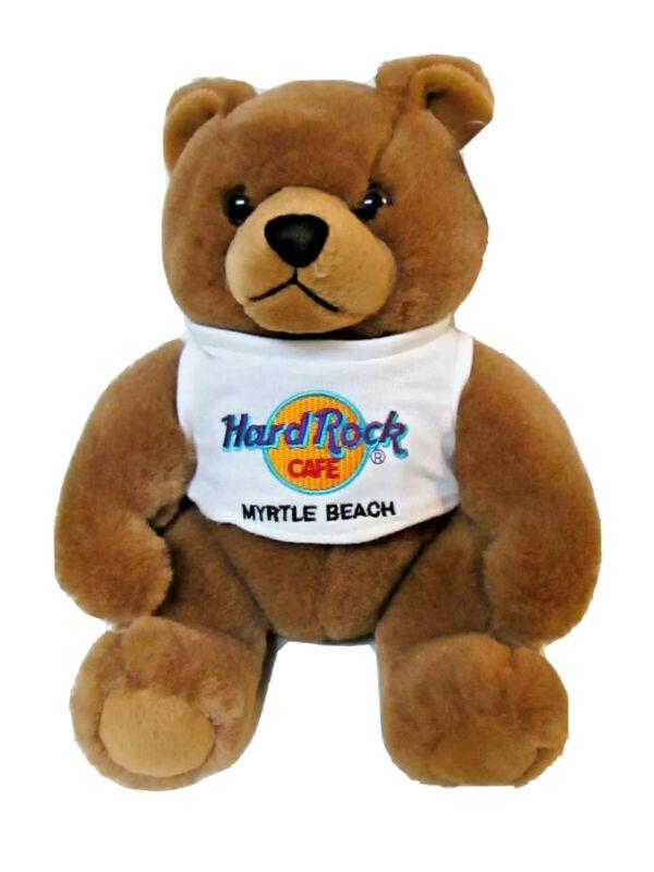 "Hard Rock Cafe MYRTLE BEACH Brown Teddy Bear 9"" Removable T shirt 1999 Plush"