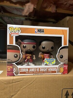 Funko Pop! Lebron James Dwight Howard BAIT 2-Pack Exclusive NEW Vaulted NBA