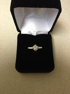 1/4ct diamond on 10K yellow Gold ring