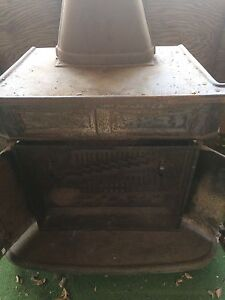 Antique steel wood stove