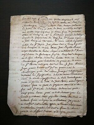 BAROCK MANUSKRIPT AUS DEM JAHR 1786 AUF PAPIER DOKUMENT FRANKREICH