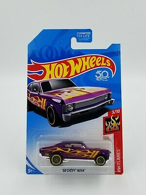 Hot Wheels 2018 Super Treasure Hunt '68 Chevy Nova with Protector