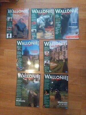 Lot de 7 Magazines : WALLONIE Ma Region : N°1 à 6 + Sup N°5 : 1999 - 2000 :