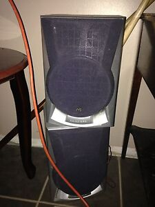 JVC and RCA speakers