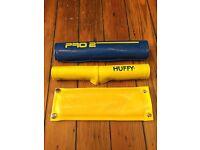 Old School Huffy Pro 2 BMX 3 Piece Pad Set-Rad Pads With Chrome Snaps