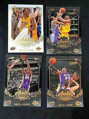 Lot of 4 2008-09 Upper Deck Kobe Bryant MVP Basketball Cards #8 #10 #38 #78 Kobe Bryant 2008 Mvp Basketball