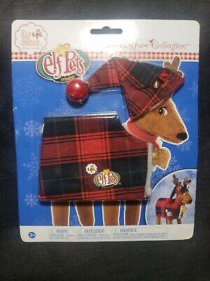 Elf on the Shelf Pet Reindeer Red Plaid Pajamas PJs Claus Couture NIP