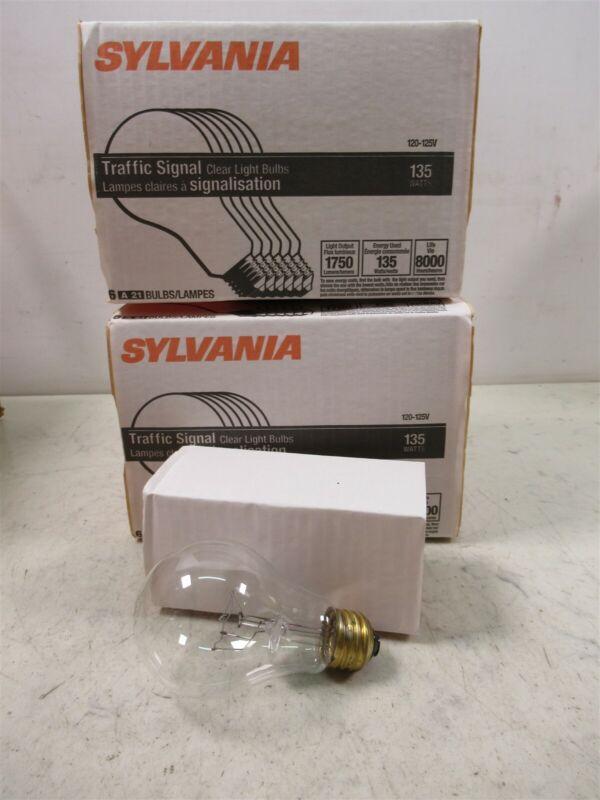 Lot of 12 Sylvania 135A21/TS/8M/SS Clear 135W Light Bulbs A21 Traffic Signal