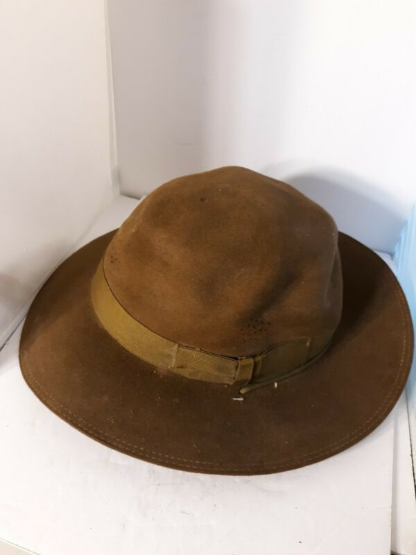 Vtg Boy Scouts Of America Official Scout Master Felt Hat  Fraternal Historical