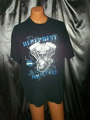 vtg Harley Davidson Motorcycles 1999 motor blueprint for success 90s t-shirt