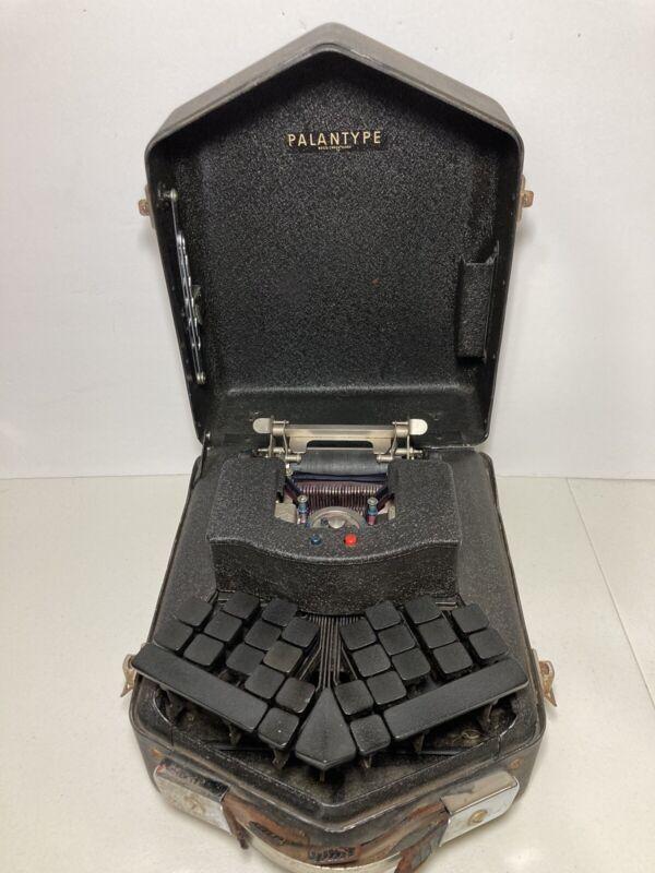 Vintage Palantype Stenotyping Machine w/ Instructions