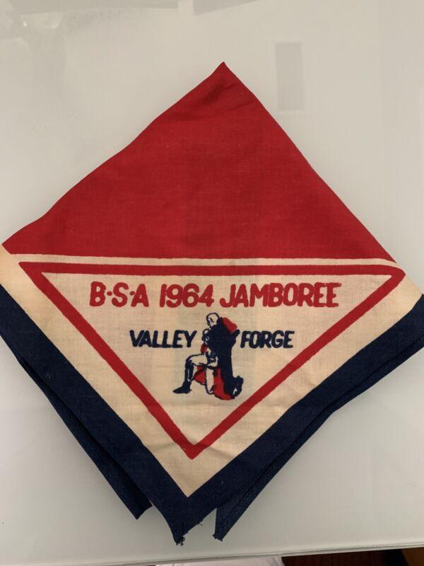 Vintage 1964 Boy Scout Neckerchief Valley Forge Jamboree BSA Excellent!